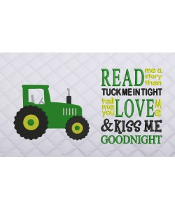 tractor embroidery read me a story