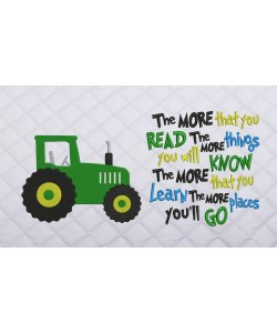 tractor embroidery the more that you read