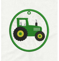 tractor Ornaments in the hoop