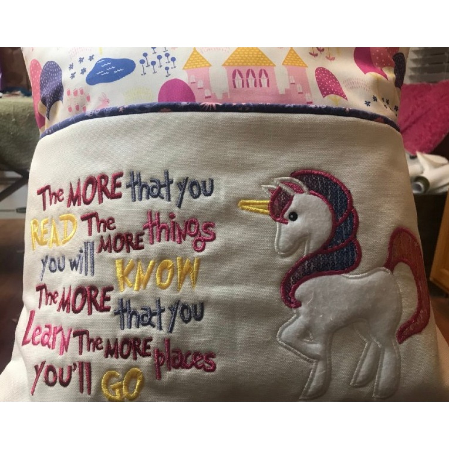 Unicorn Applique the more that you read