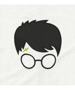 Harry potter face embroidery design
