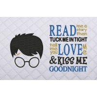 Harry potter face embroidery with read me a story
