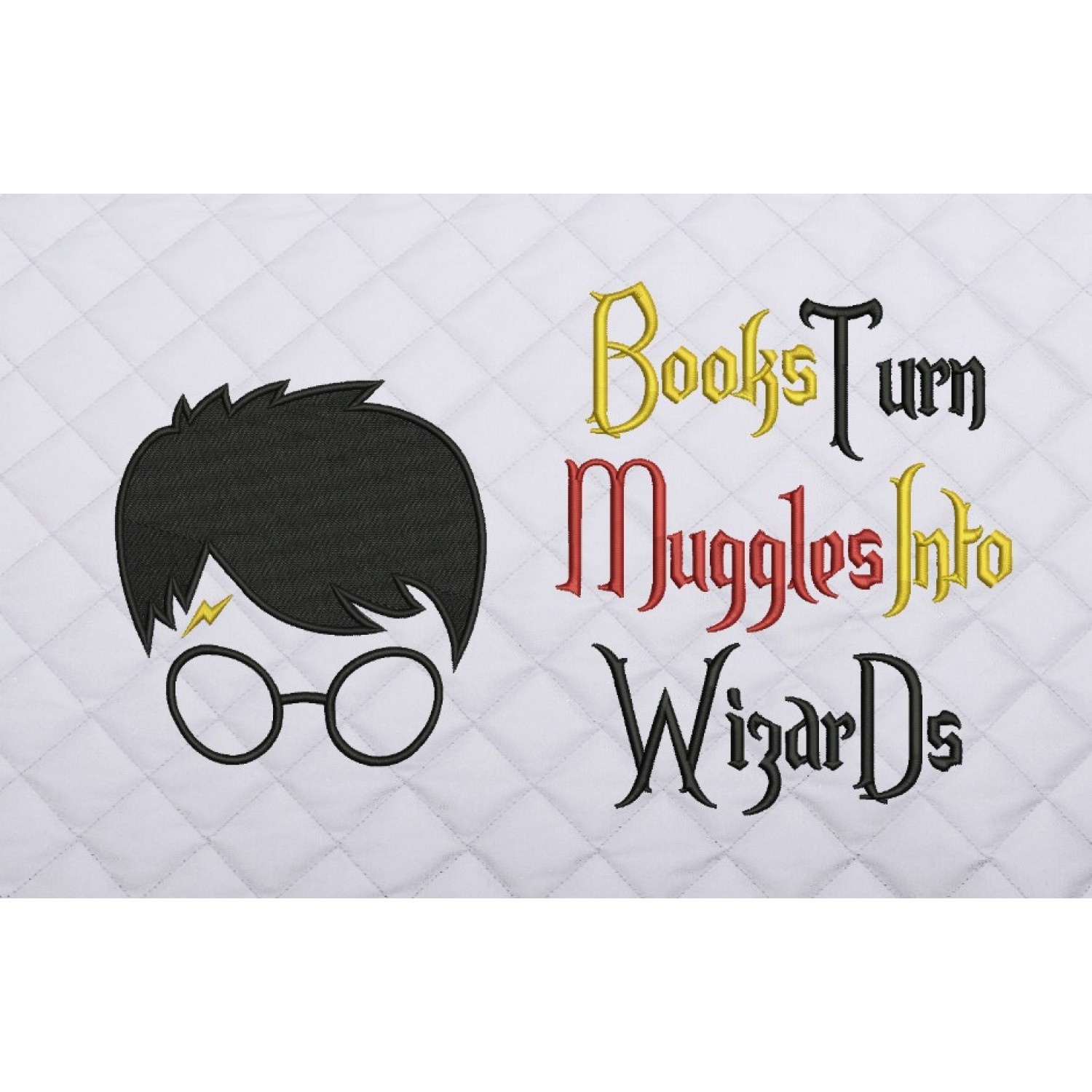 Harry potter face embroidery Books Turn