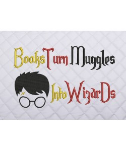books turn harry potter