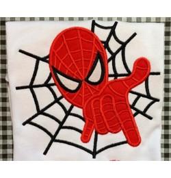 spiderman applique embroidery