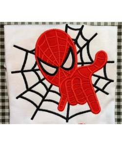 spiderman applique embroidery