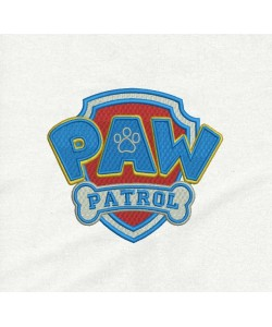 logo paw patrol embroidery design