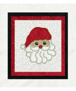 santa face stippling in the hoop