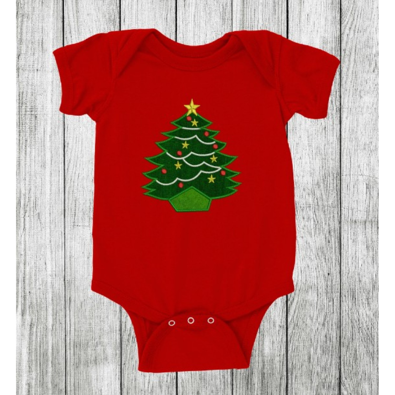 tree christmas applique