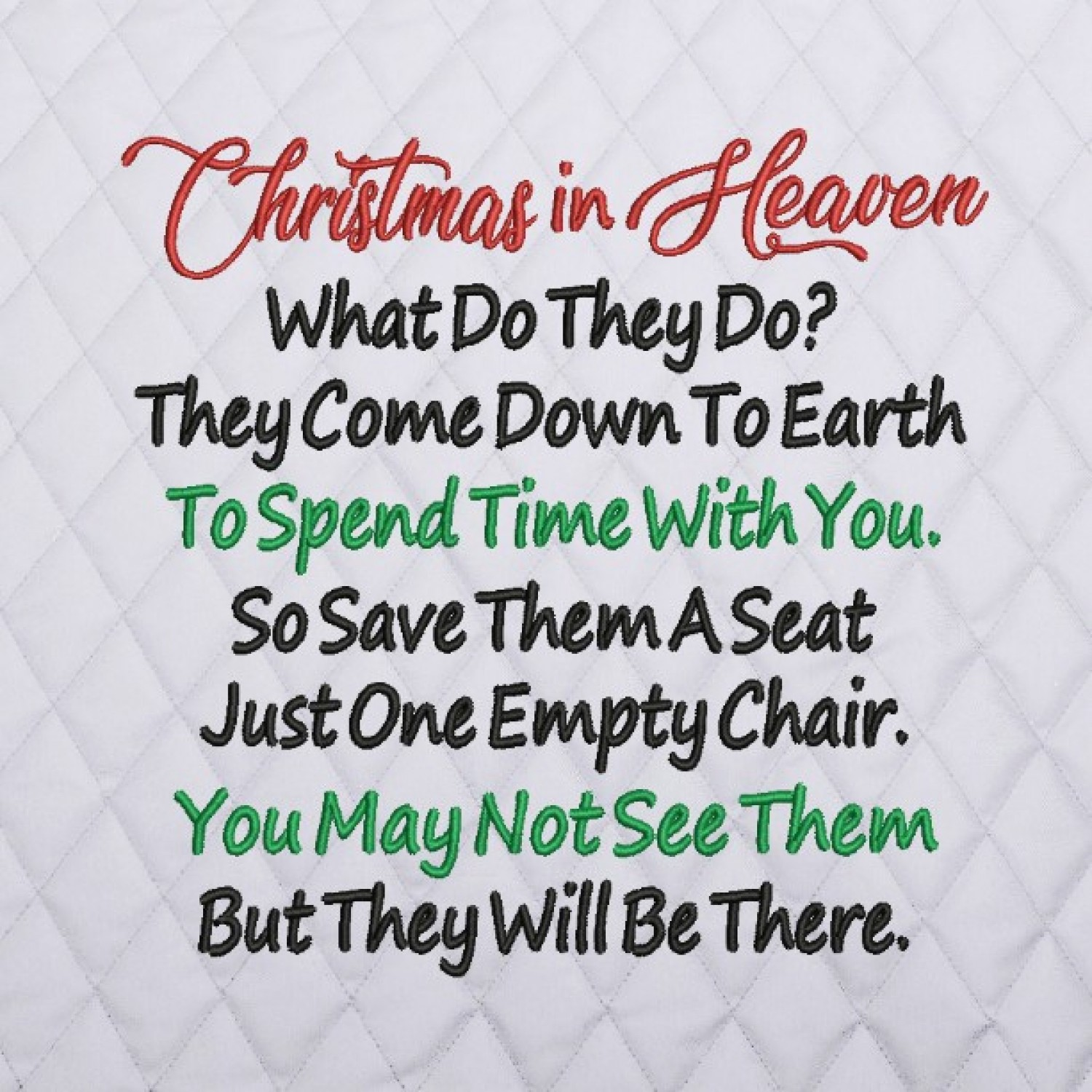 Christmas in Heaven embroidery design