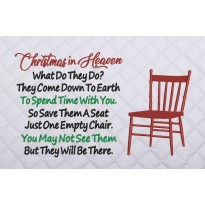 Christmas in Heaven Chair embroidery