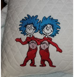 Thing 1 Thing 2 embroidery design