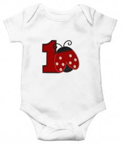 ladybug birthday number 1 applique