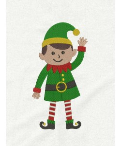 elf embroidery design