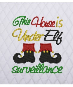 this house shoe elf embroidery