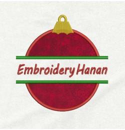 Christmas ornament split applique