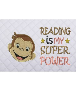 face monkey with reading is my super power