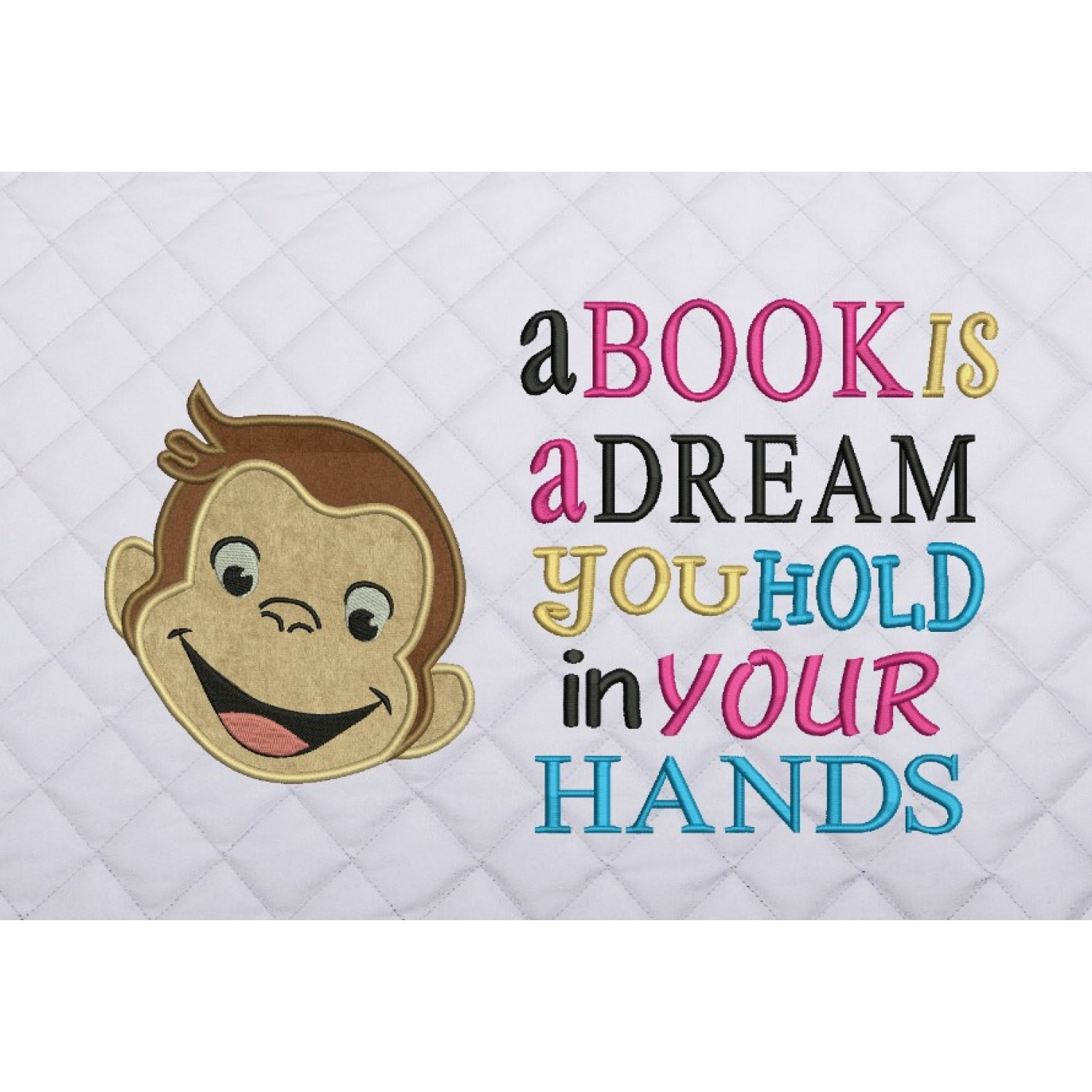 face monkey with a book is a dream