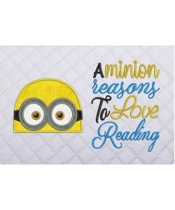 minion face applique with a minion reasons