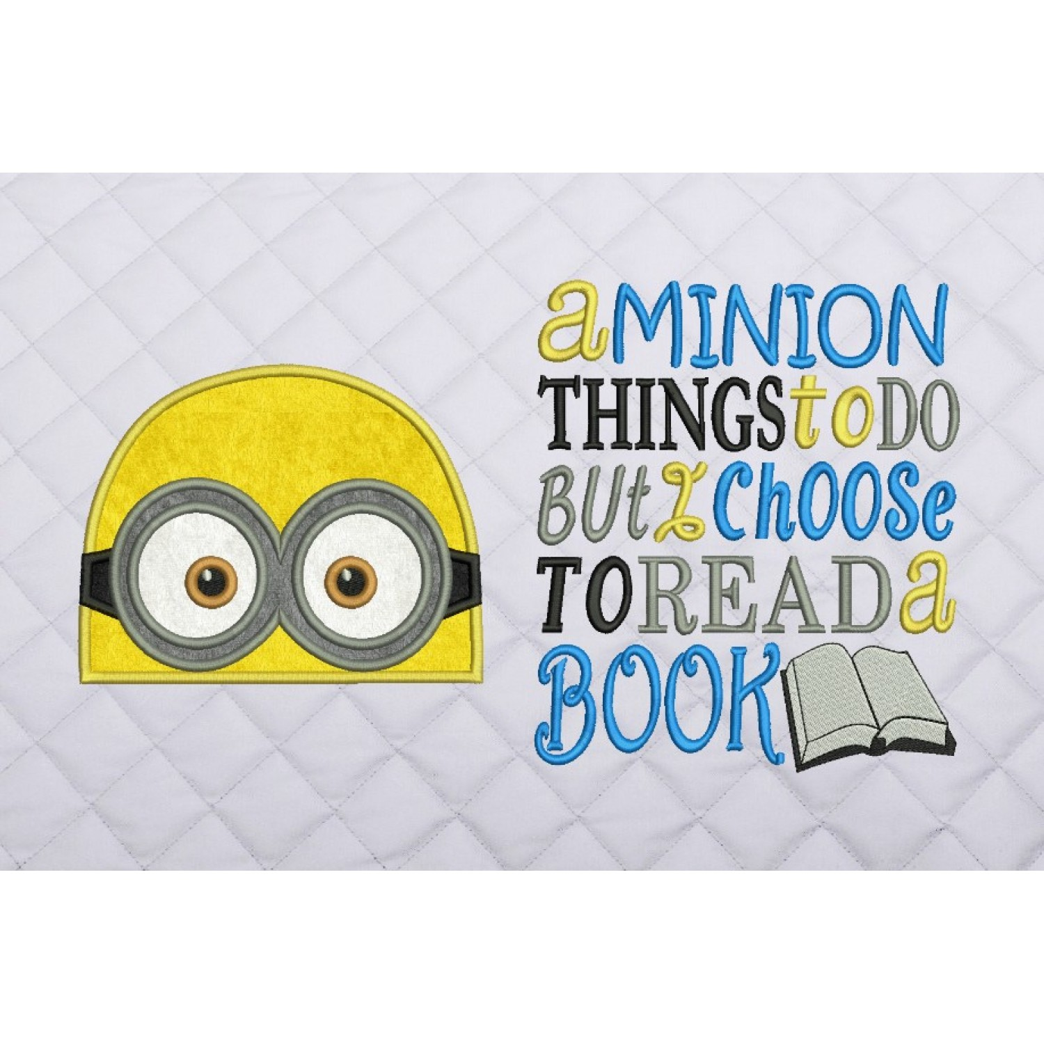minion face applique with a minion things