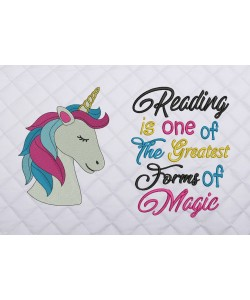 unicorn nas embroidery with reading is one of the greatest