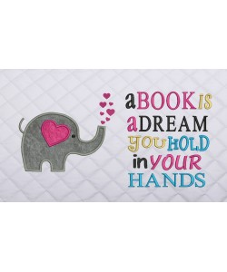 Elephant Hearts with a book is a dream
