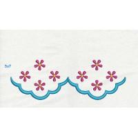 roses border in the hoop Hand Towel