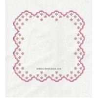 roses napkin border in the hoop 7 sizes