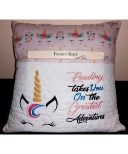 unicorn jeune embroidery with reading takes you