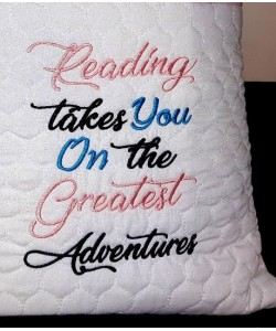reading takes you embroidery
