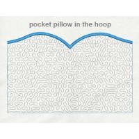 pocket pillow stippling in the hoop