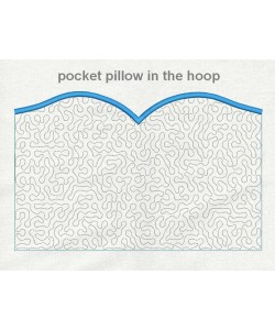 pocket pillow stippling in the hoop
