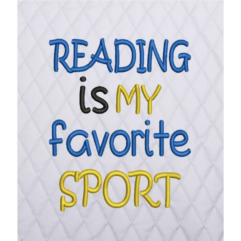 reading is my favorite sport