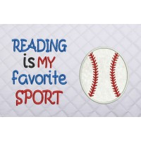 reading is my favorite sport with Baseball