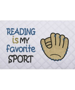 reading is my favorite sport with Baseball Glove