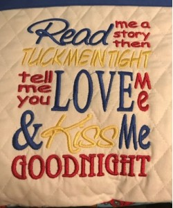 Read me a story v2 embroidery