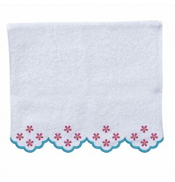 roses border in the hoop Hand Towel