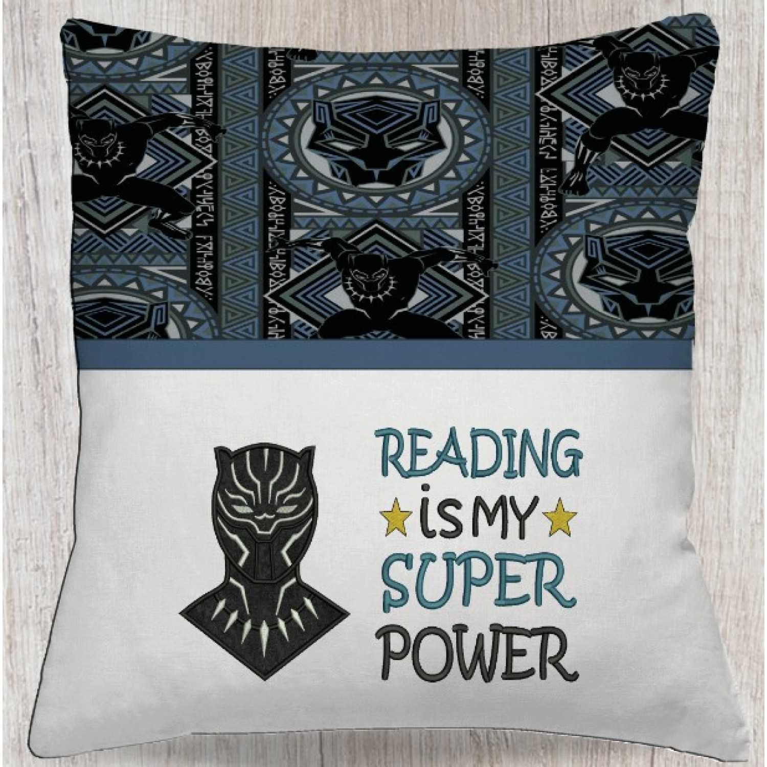 black panther with Reading is My Super power
