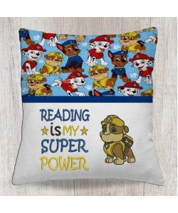 Rubble Paw Patrol with reading is my super power
