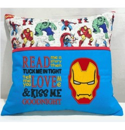 Iron Man face with read me a story