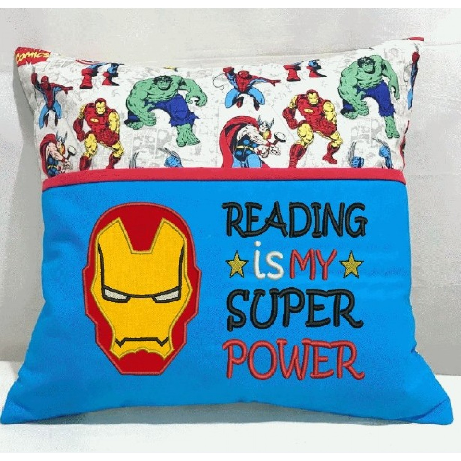 Iron Man face with Reading is My Super power