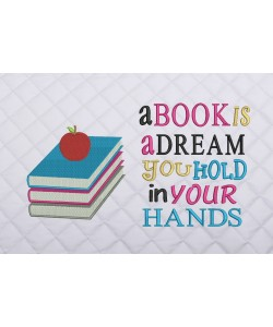 books and apple with a book is a dream