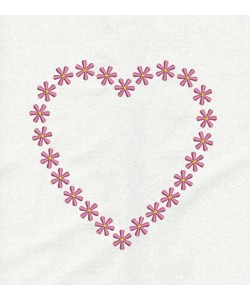 heart roses embroidery