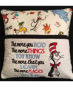 Dr. Seuss embroidery with the more you read