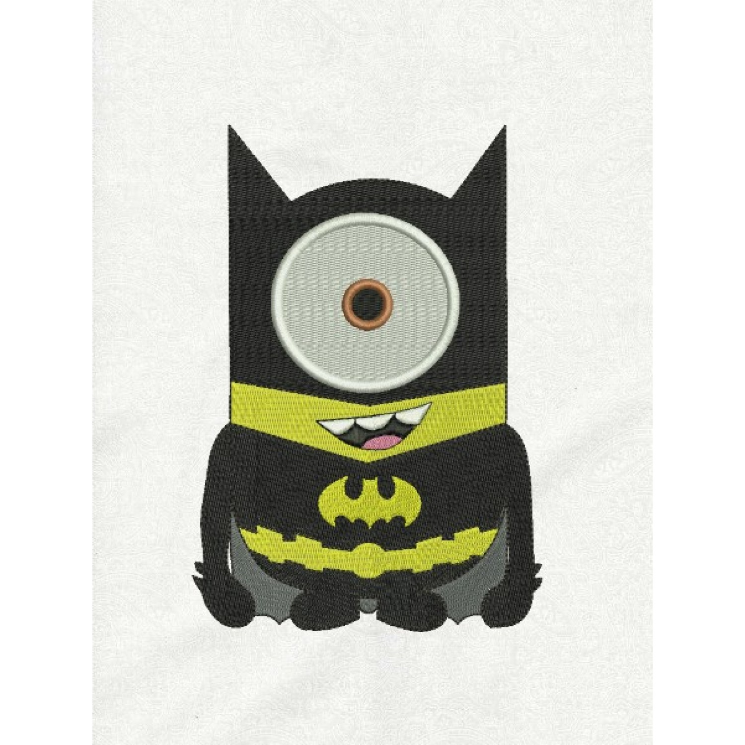 Minion batman embroidery