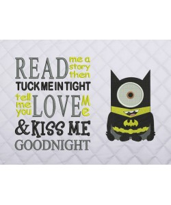 minion batman with read me a story