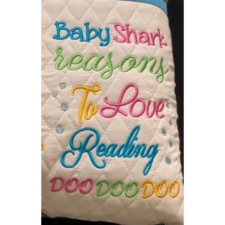 baby shark reasons embroidery