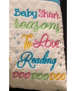 baby shark reasons embroidery