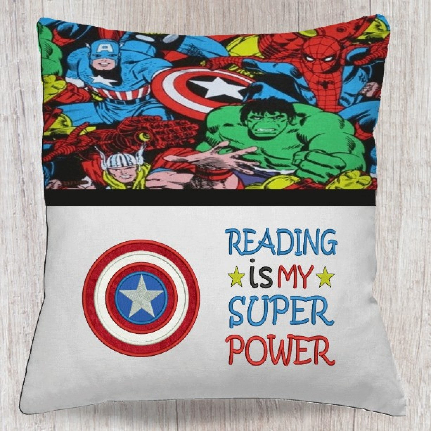 captain america with Reading is My Superpower v2
