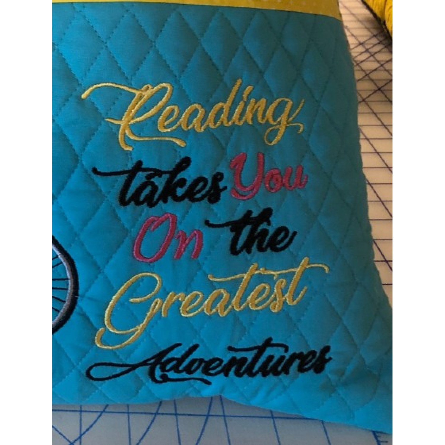 reading takes you embroidery design